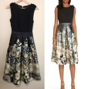 Ted Baker Molyka Gem Gardens Bow Dress Sz 0